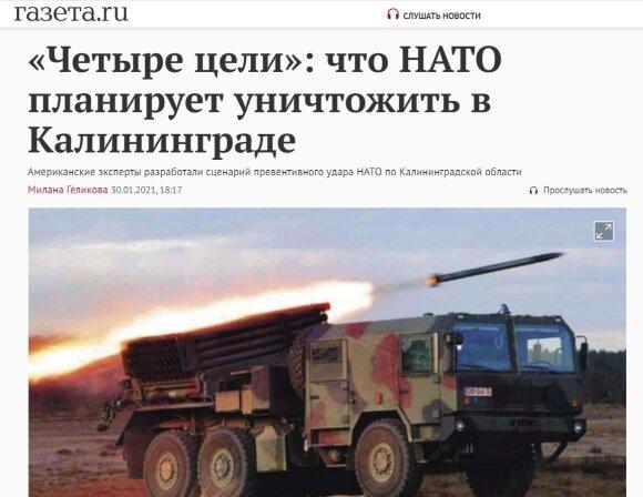 NATO invazija į Kaliningradą: išgalvotas scenarijus Rusijoje sukėlė tikrą isteriją