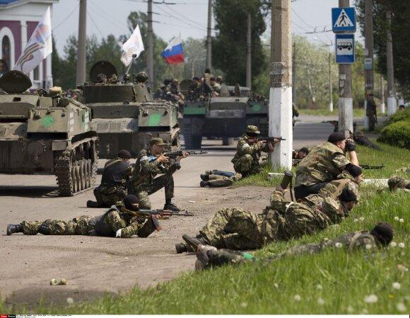 Prorusiški separatistai Rytų Ukrainoje