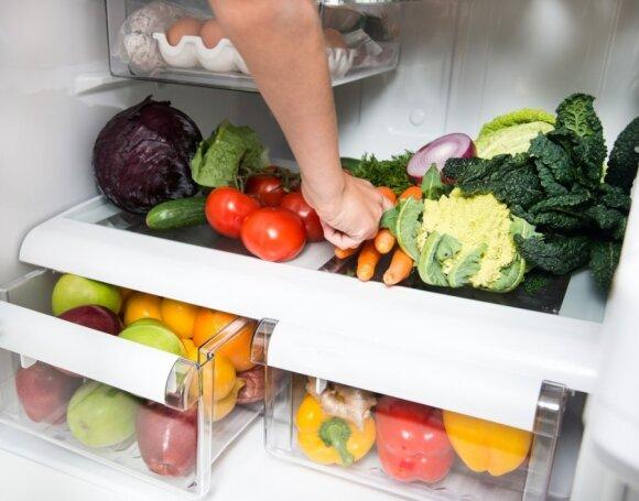 Daržovės gerai laikosi ir šaldytuve