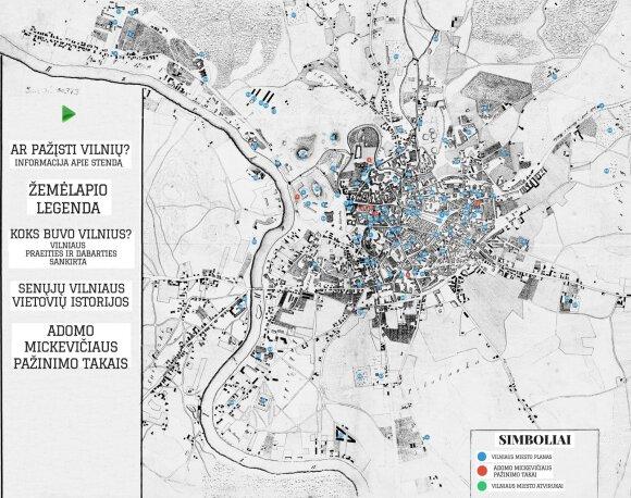 Interaktyvios parodos žemėlapis