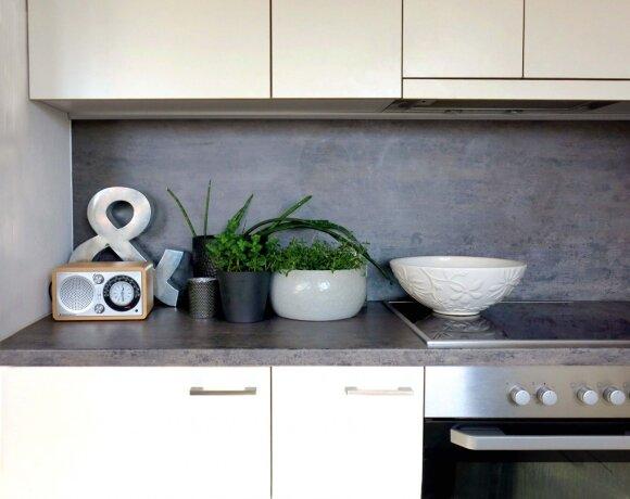 Paprastą ir patogią virtuvę suprojektavo Agnė Stanikūnaitė