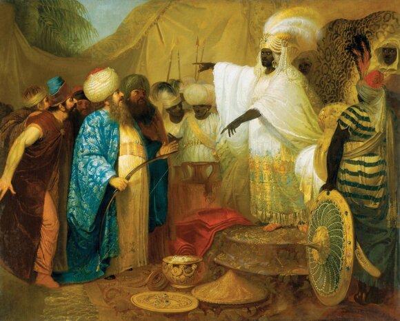 Pranciškus Smuglevičius. Persų pasiuntiniai pas Etiopų karalių. LNDM
