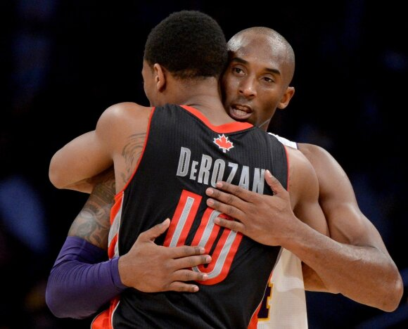 DeMaras DeRozanas ir Kobe Bryantas