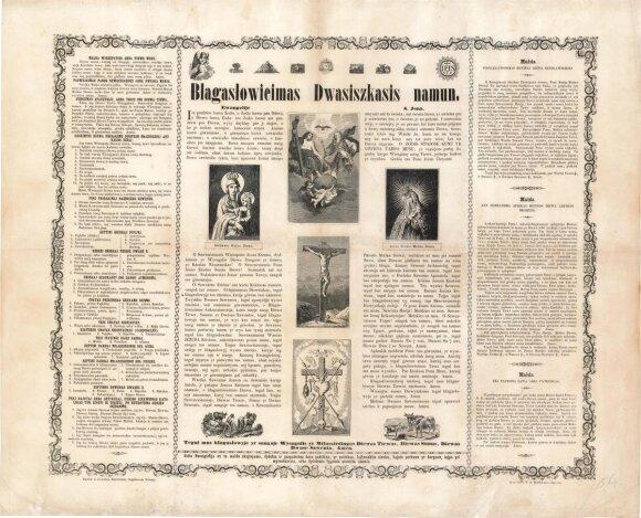 Lietuviškas XIX a. plakatas