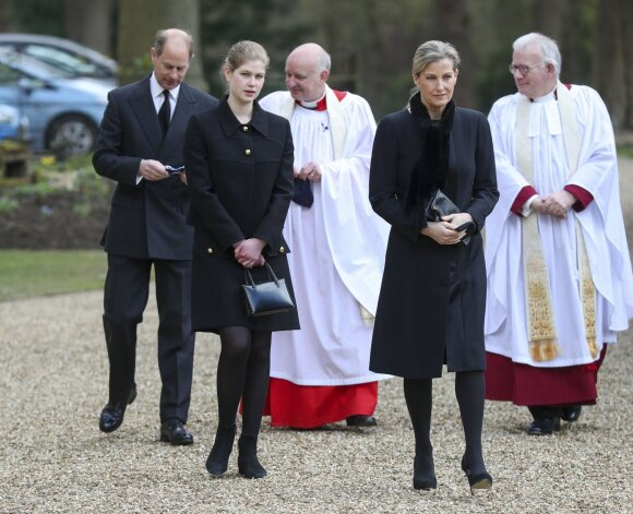 Countess Sophie with her husband, Prince Edward, and daughter, Lady Louise Windsor
