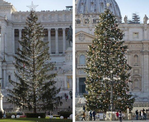 Internautai leipsta juoku dėl Romos Kalėdų eglutės