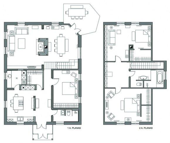"""<span style=""""color: #ff4040;"""">PRIEŠ ir PO:</span> kaip senas rąstinis namas Kaune pavirto į jaukų būstą"""