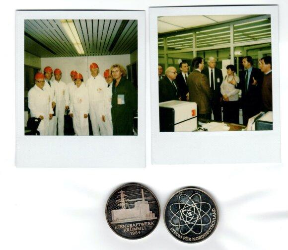 L. Ašmantas Vokietijoje Krumel AE 1991 gruodžio 5 d. su žmona. Kairėje su akiniais – G.Choroševskis, jo patarėjas – puikiai kalbantis vokiškai.
