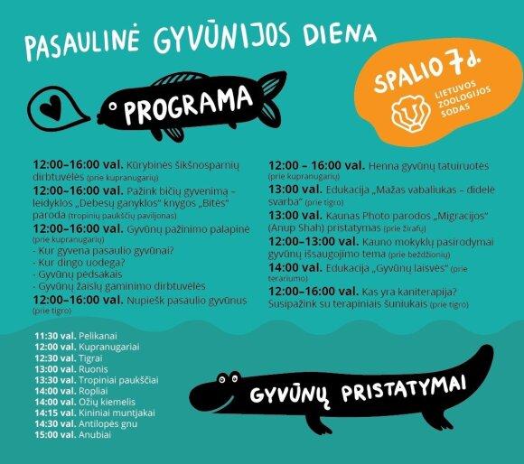 Pasaulinės gyvūnijos dienos programa