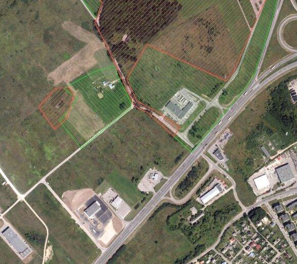 Rekonstruojama sankryža priklauso žaliai pažymėtam IX forto vizualinės saugos pozoniui