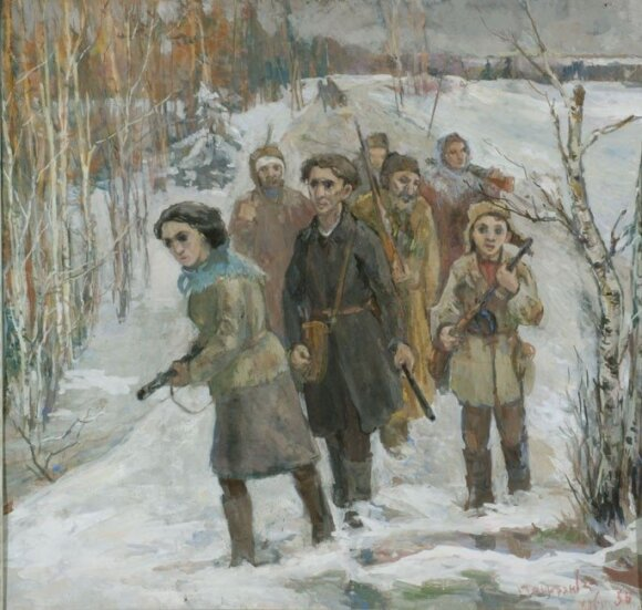 Partisans in the forest, by David Labkovski