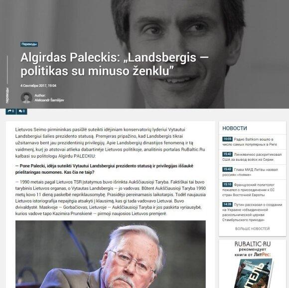 Paleckio ir Ivanovo sulaikymas įsiutino Kremlių: bauginti Lietuvą ėmėsi dar vienas kratos sulaukęs veikėjas