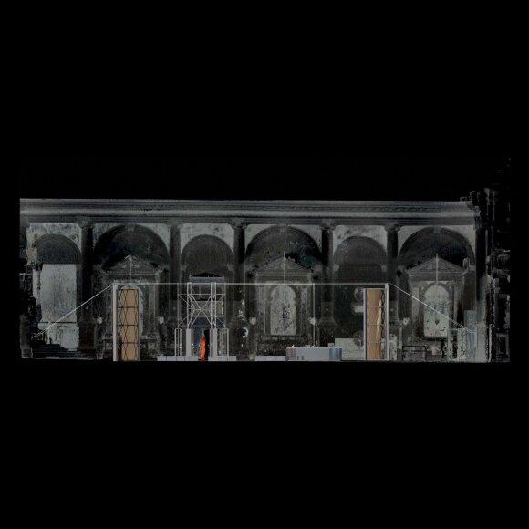 """Lietuvos erdvės agentūros laboratorijos pjūvis (2021) © Julijonas Urbonas ir """"Isora x Lozuraityte Studio for Architecture"""""""
