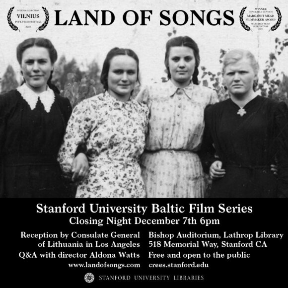 Documentary about Lithuanian folk singers to première at Stanford's Baltic Film Series