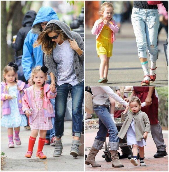 Aktorė Saros Jessicos Parker dukros Loretta ir Tabitha