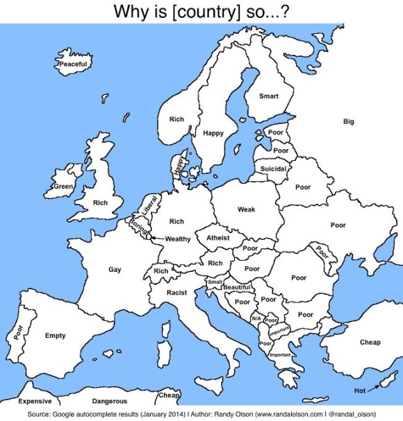 Dla Google Litwini to samobójcy, Polacy - słabeusze, Francuzi - geje, a Finowie... bystrzy i pomysłowi
