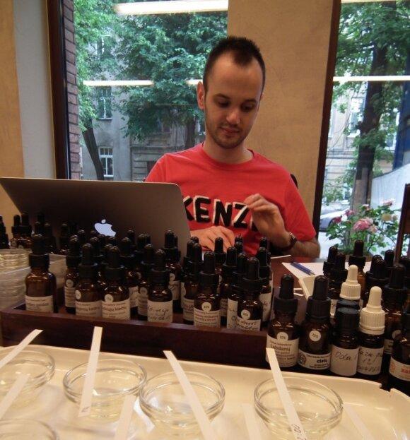 Parfumeris iš Prancūzijos Lietuvoje kurs odos kvapą