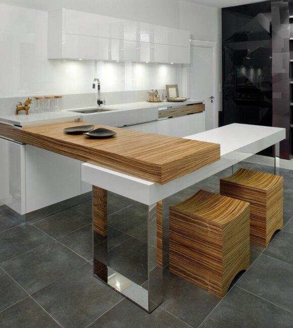 Pagrindiniai virtuvės interjero kūrimo principai