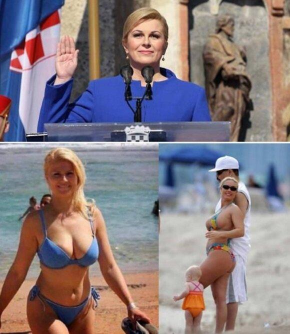Prezidentė Kolinda Grabar-Kitarovič.