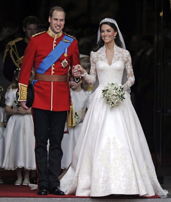 Kate Middleton ir princas Williamas per savo vestuves