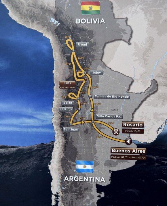 Dakaras 2016 trasa
