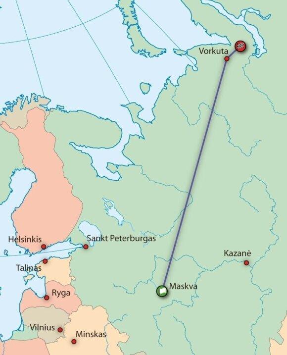 Maskva-Vorkuta maršrutas