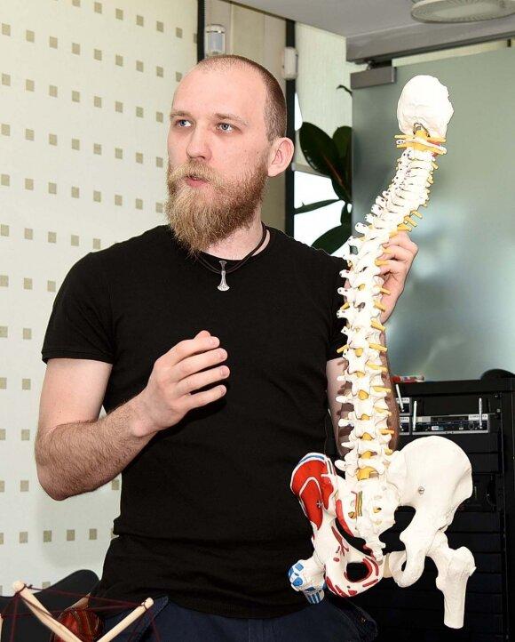 Osteopatas V. Jankauskas: įdomu tai, kad ne visada skauda tą vietą, kuri yra problemiška