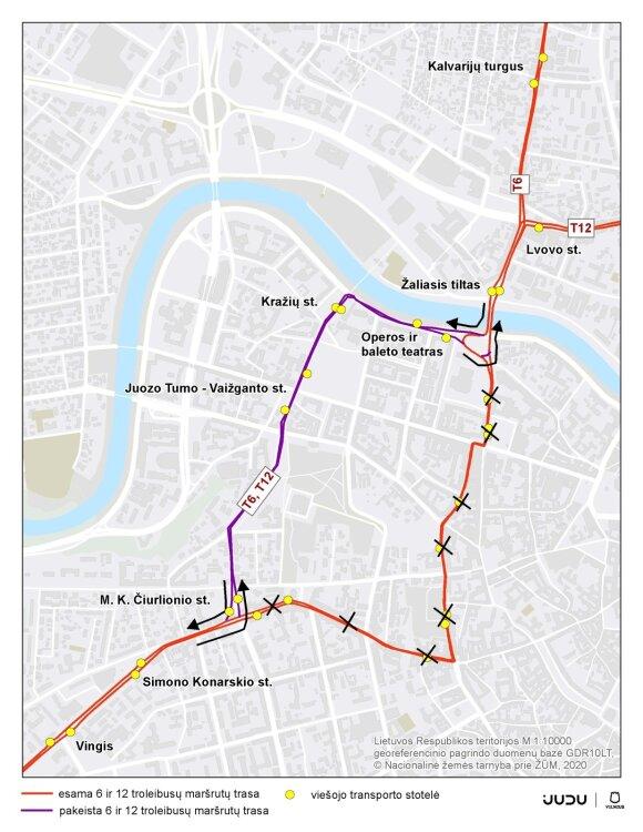 Sostinės Naujamiestyje – laikini eismo ir viešojo transporto judėjimo pokyčiai