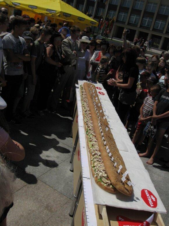 3metrų ilgio sumuštinis