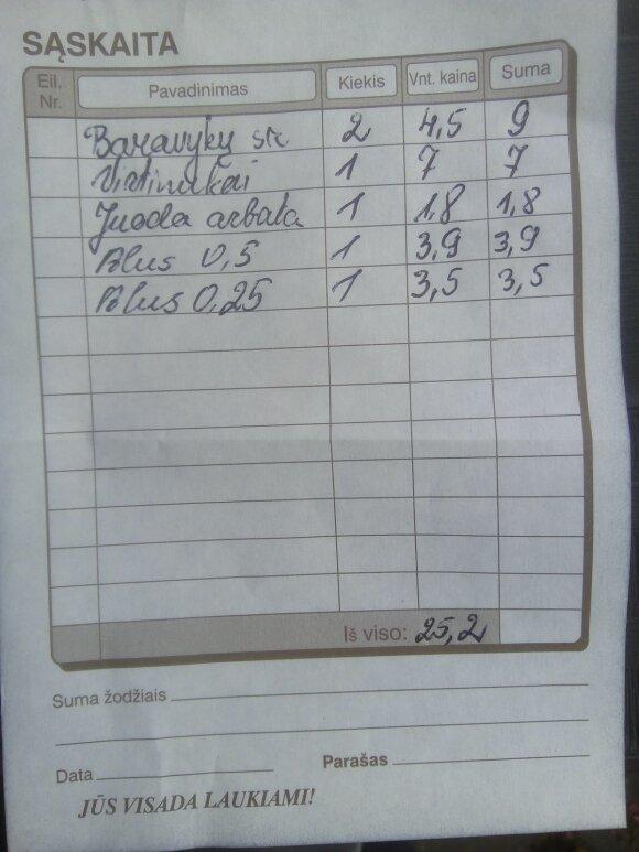 Moterį šokiravo restorano kainos Šiluvoje: bažnytkaimyje brangiau nei sostinės senamiestyje?