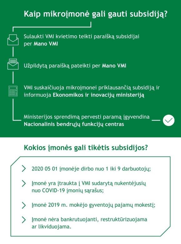 VMI subsidijos mikroįmonėms