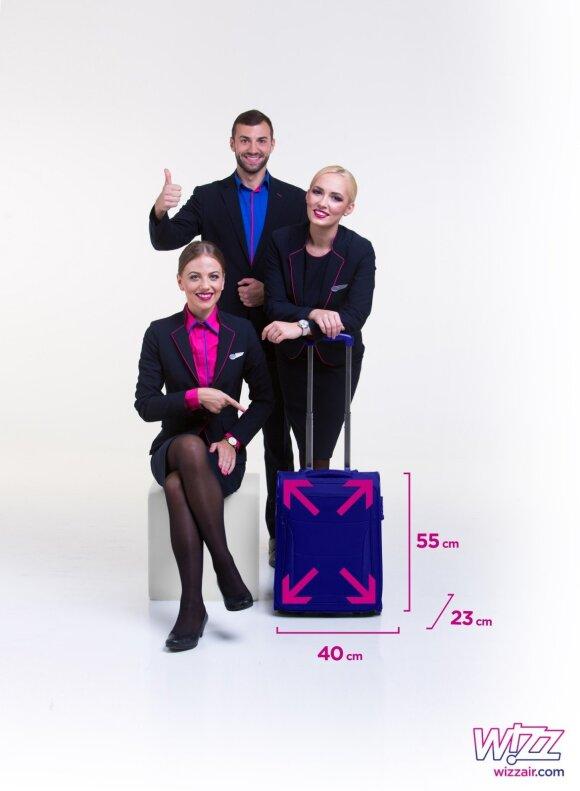 """Įsigaliojo nauja """"Wizz Air"""" rankinio bagažo tvarka"""