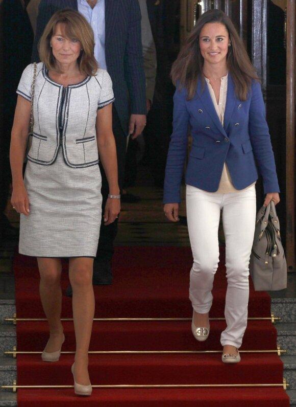 Carole Middleton ir Pippa Middleton