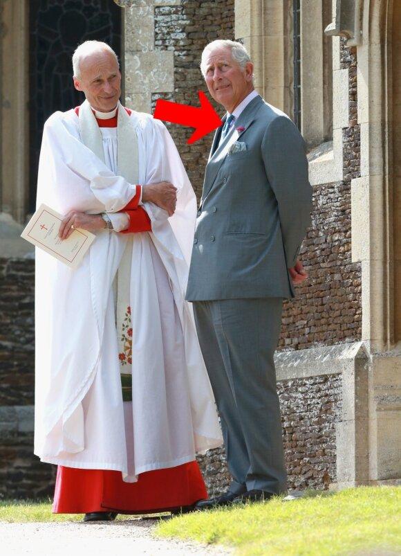 Princas Charlesas per princesės Charlotte krikštynas