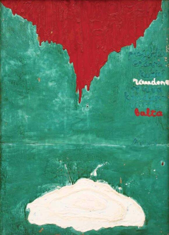 Linas Leonas KATINAS. Projektas erdvei, kurios raudona spalva krisdama virsta balta. 1971
