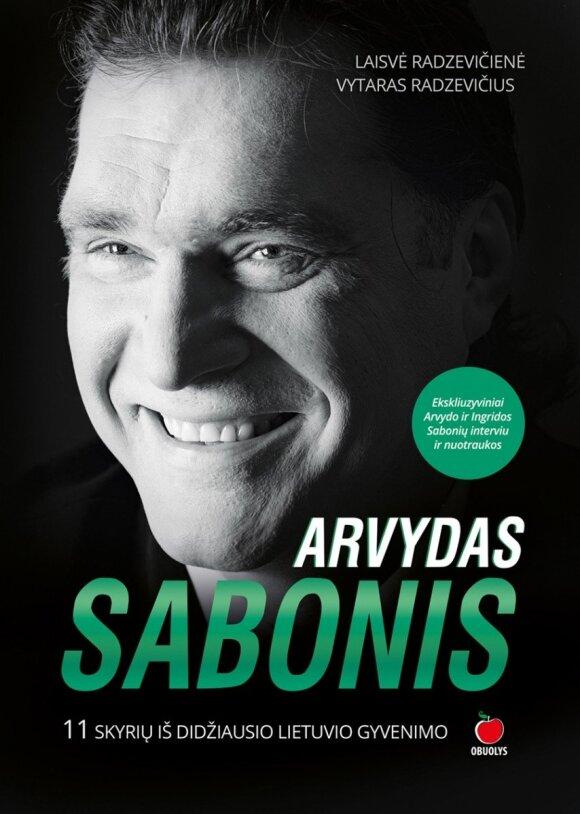 """Knygos """"Arvydas Sabonis. 11 skyrių iš didžiausio lietuvio gyvenimo"""" viršelis"""