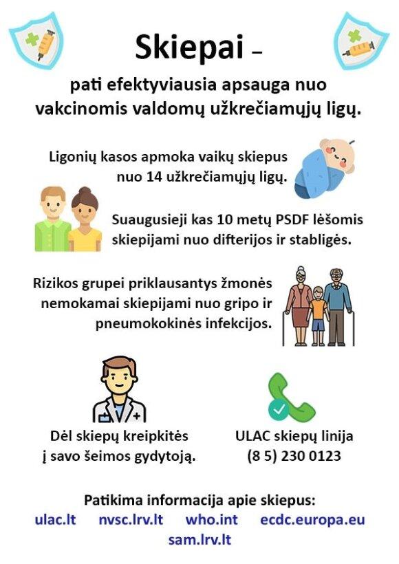 Prieš mokyklą – svarbus specialistų priminimas, kaip vaikus apsaugoti nuo ligų protrūkių