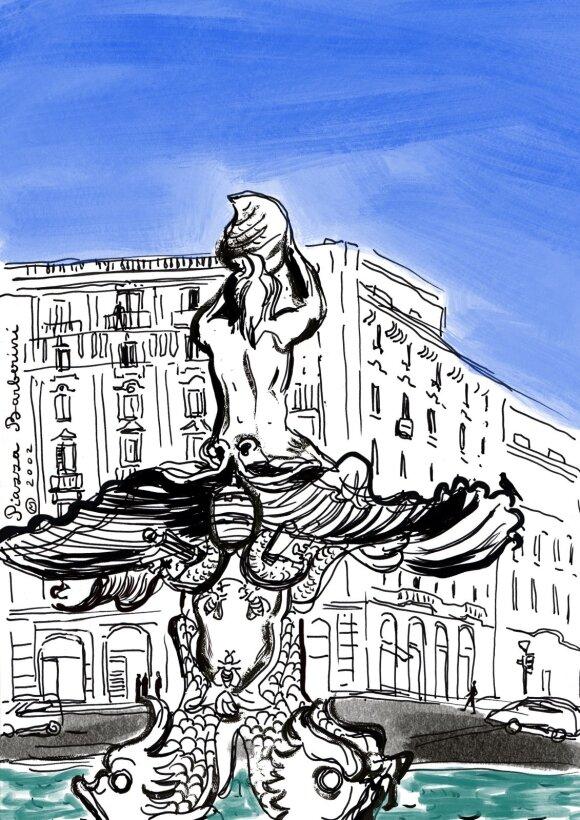 Barberini aikštė su Tritono fontanu