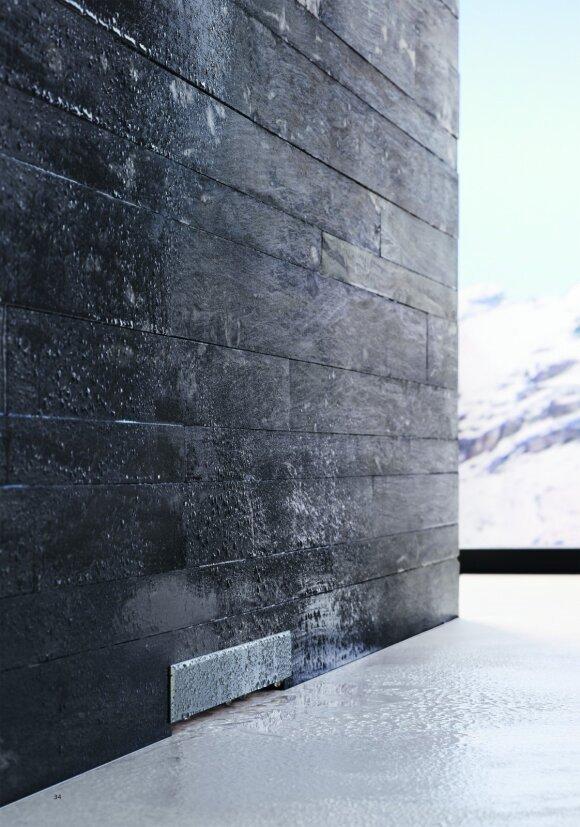 Universalumas: dangtelį galima pritaikyti prie pageidaujamos plytelių tekstūros.