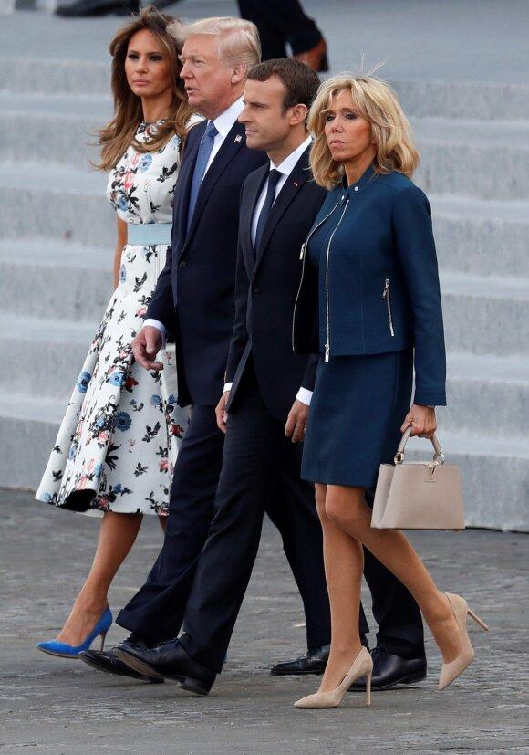 Melania Trump, Donal Trump, Emmanuel Macron, Brigitte Macron