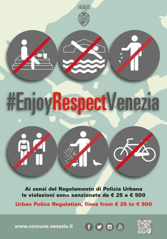 Plakatas Venecijoje