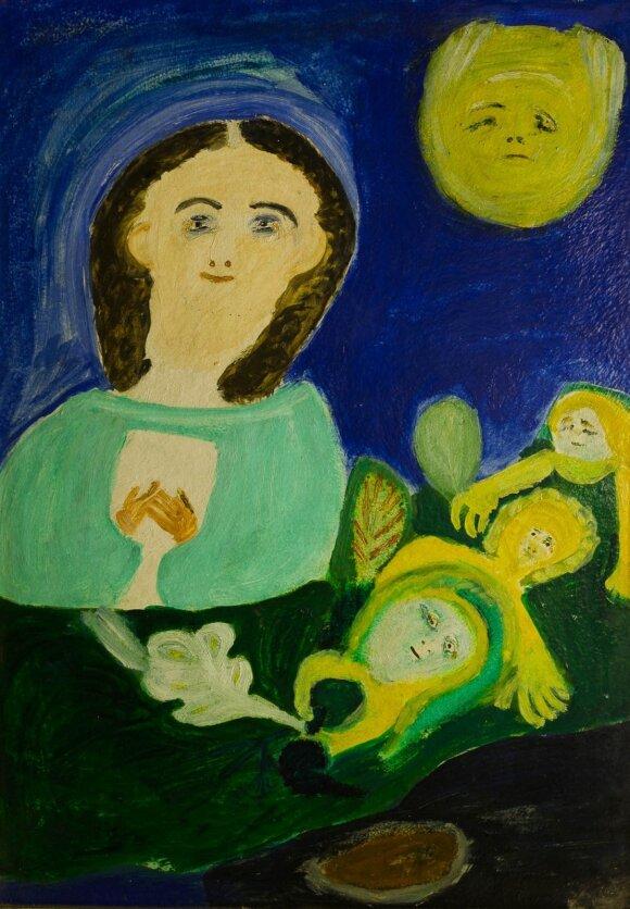Petronėlė Gerlikienė. Vasara. Kristui aukojami žolynai (1977)