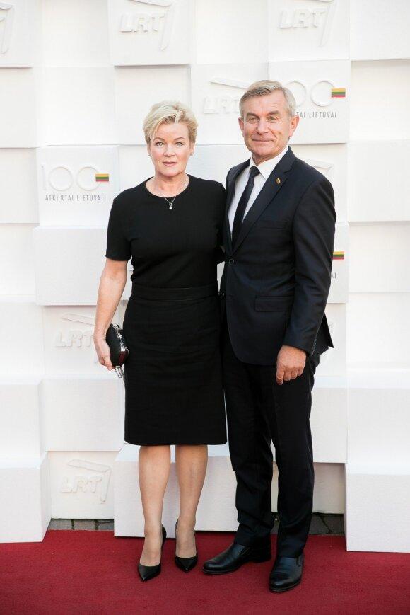 Viktoras Pranckietis su žmona