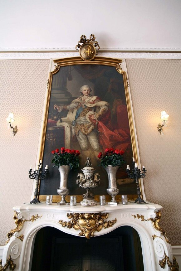 Vieną restorano salių puošia karaliaus Stanislovo Augusto Poniatovskio portretas