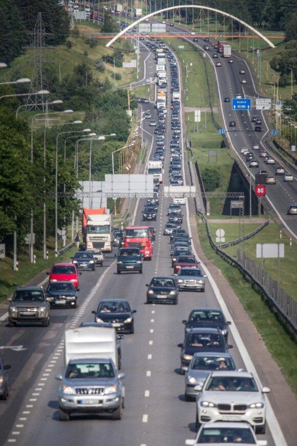 Vilnius - Klaipėda magistralė tiek Kaunu