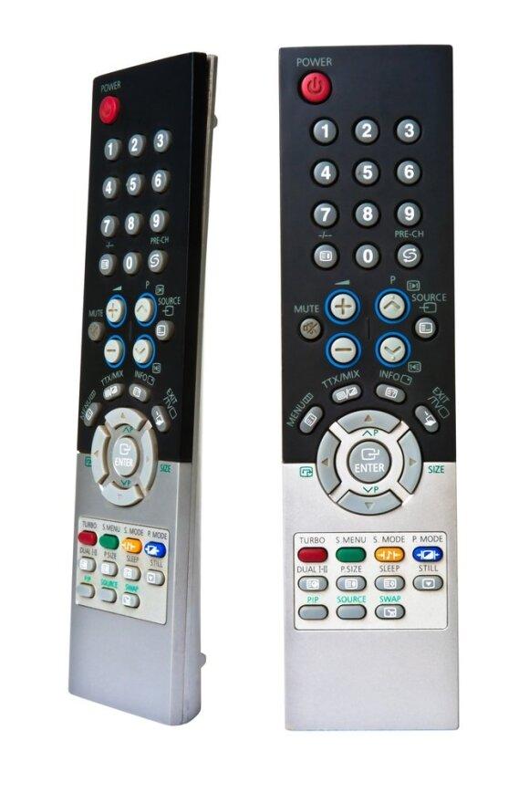 Daugelis televizoriaus valdymo pultelių turi teletekstui peržiūrėti skirtus mygtukus. Jie išskirti kita spalva, dažniausiai, raudona, žalia, geltona ir mėlyna