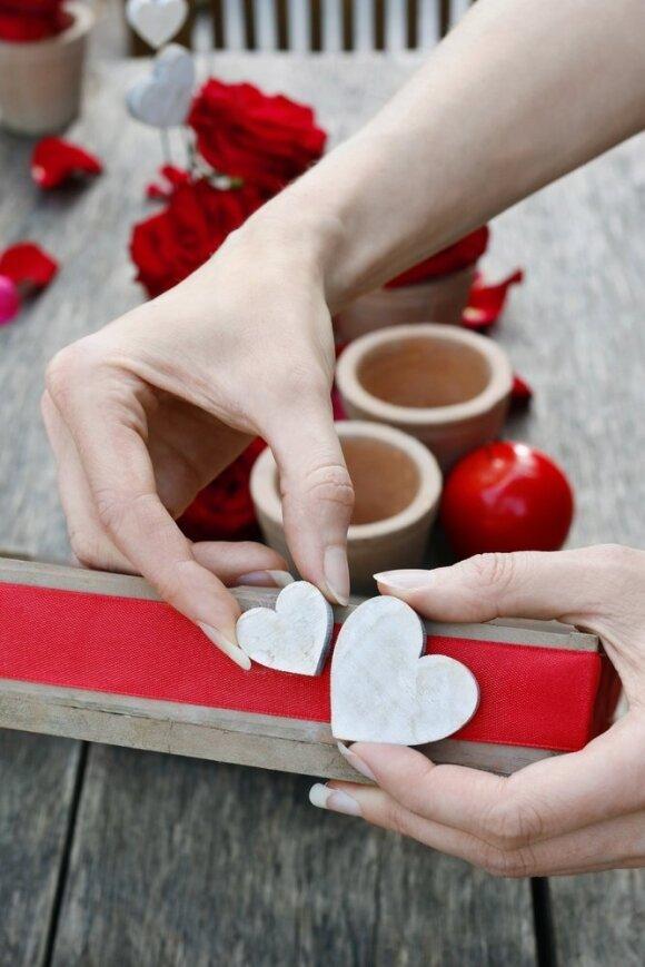 Pasidaryk pats: miela ir nebrangi dekoracija Šv. Valentino dienai