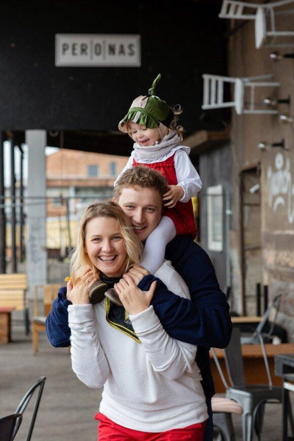 Indrė Mažeikienė su šeima