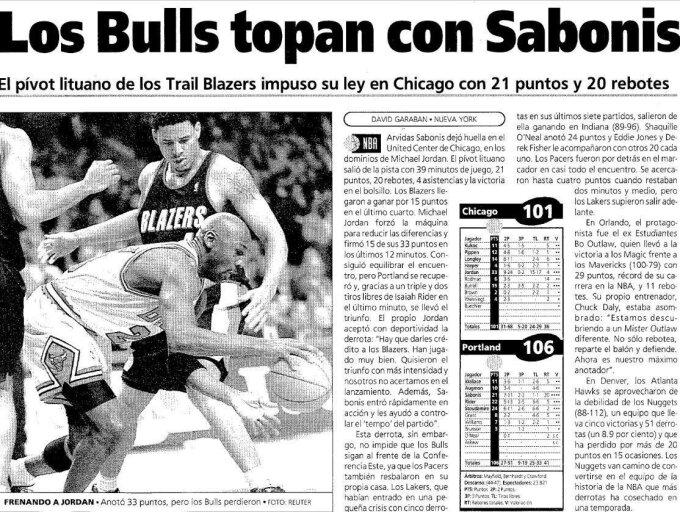 """""""El Mundo Deportivo"""" straipsnis apie rungtynes"""
