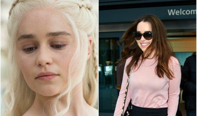 """""""Sostų karų"""" žvaigždę Emilia Clarke realybėje sunku atpažinti FOTO"""
